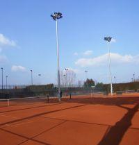 Uno dei campi da tennis del Circolo
