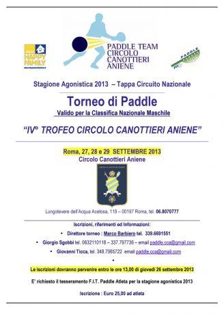locandina IV trofeo CCA settembre 2013 tassa corretta
